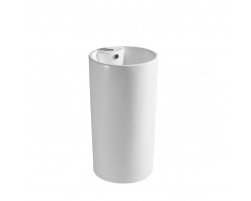 MLN-B135-1 Melana Раковина напольная, форма колонна-цилиндр, размер 47 см., цвет белый.
