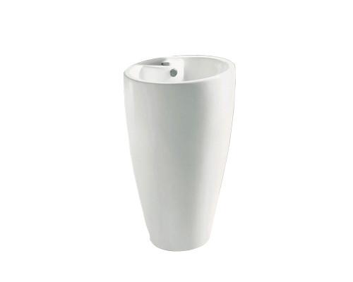 MLN-B166-1 Melana Раковина напольная, форма колонна, размер 50 см., цвет белый.
