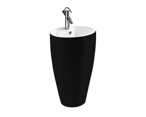 MLN-B166-1BW Melana Раковина напольная, форма колонна, размер 50 см., цвет черно- белый.