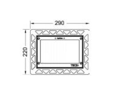 Монтажная рамка для установки стеклянных панелей TECEloop на уровень стены 9.240.646