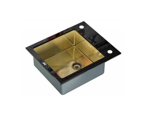 Мойка для кухни ZorG GL-6051-BLACK-BRONZE цвет бронза черный