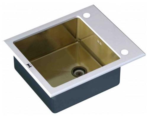 Мойка для кухни ZorG Inox Glass GL-6051-WHITE-BRONZE