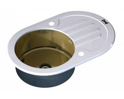 Мойка для кухни ZorG Inox Glass GL-7851-OV-WHITE-BRONZE