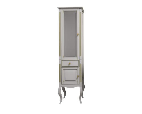 Шкаф-пенал Opadiris Лаура 45 L цвет белый матовый с бежевой патиной