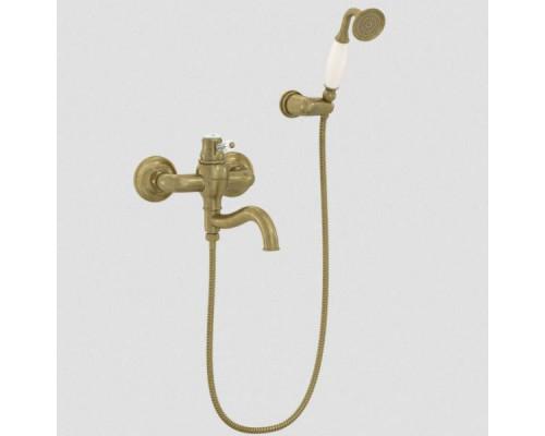 Смеситель Bennberg 13R0717 для ванны, бронза/белый кристалл