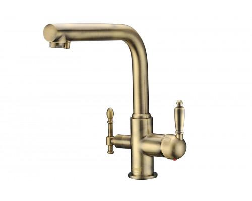 Смеситель для кухни под фильтр Zorg Sanitary ZR 313 YF-33 BR бронза