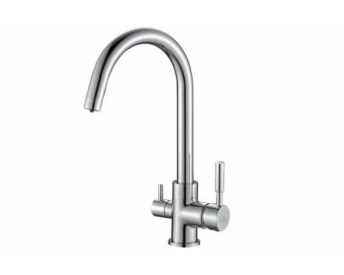 Смеситель для кухни под фильтр Zorg Steel Hammer SH 713 CR хром
