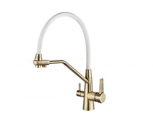 Смеситель для кухни Zorg Steel Hammer цвет бронза