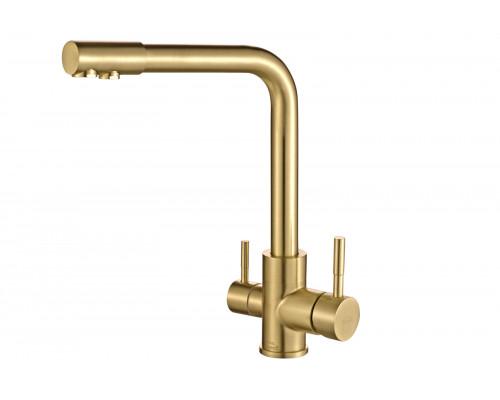 Смеситель для кухни Zorg Steel Hammer SH 801 INOX BRONZE PVD бронза