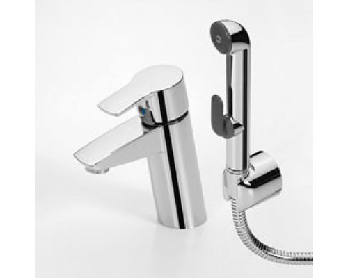 Смеситель Oras Cubista 2808F для раковины с гигиеническим душем