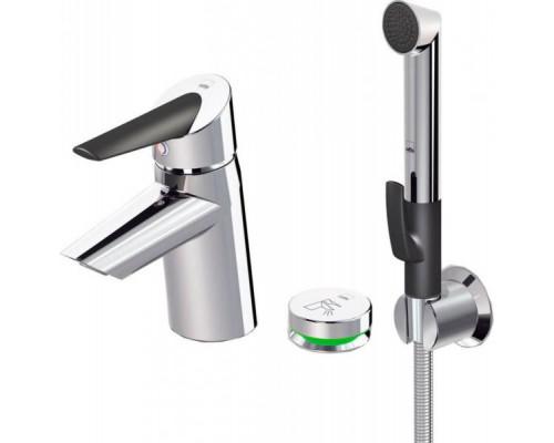 Смеситель Oras Optima 2715F для раковины с ручным душем Smart Bidetta и smart кнопкой