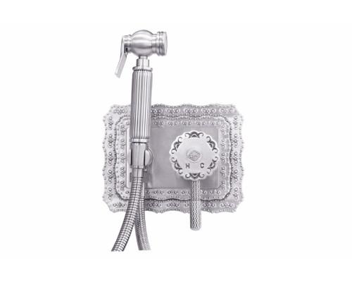 Смеситель с бидеткой ZorG Antic A 116 BD-SL цвет состаренное серебро