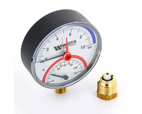 Термоманометр радиальный F+R828 WATTS 10бар 120 град.C  10025525