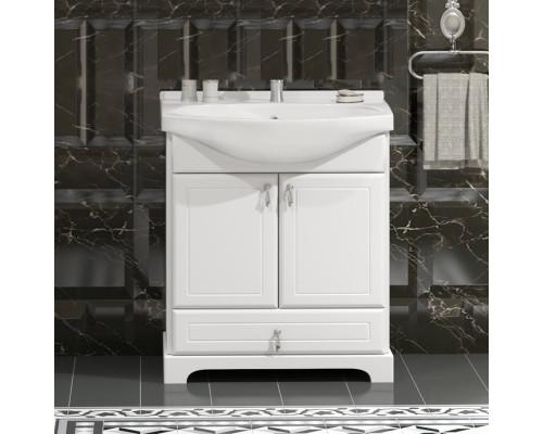 Тумба для ванной комнаты Opadiris Клио 65 цвет белый матовый
