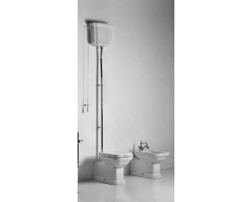 Унитаз приставной с высоким бачком Kerasan Waldorf 411601 bi хром