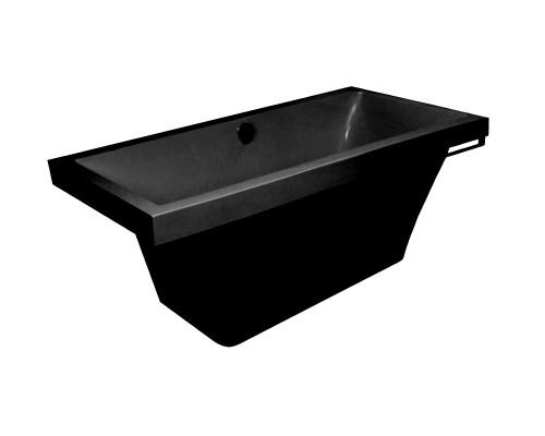 Ванна из литьевого мрамора Astra-Form Капри черный графит