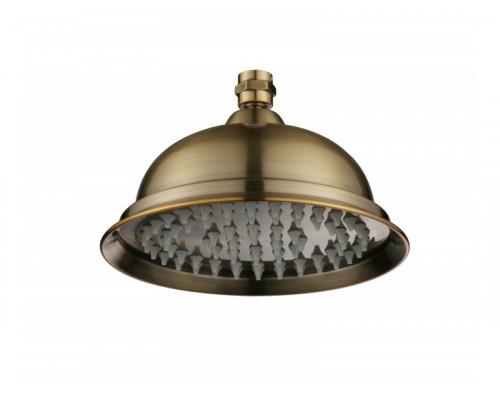 Верхний душ конус, душевая лейка 2001 BR Aksy Bagno диаметром 200 мм цвет бронза