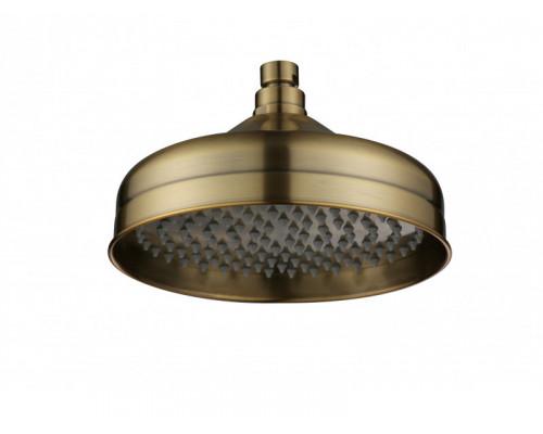 Верхний душ купол, душевая лейка 2004 BR Aksy Bagno диаметром 200 мм цвет бронза