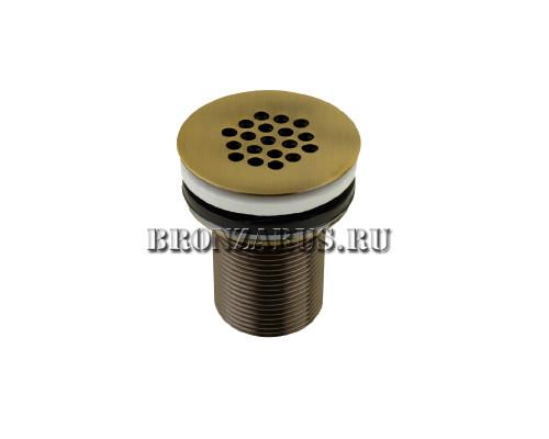 VR.SBR-8001.BR Veragio SBORTIS Донный клапан с решеткой без перелива, бронза.