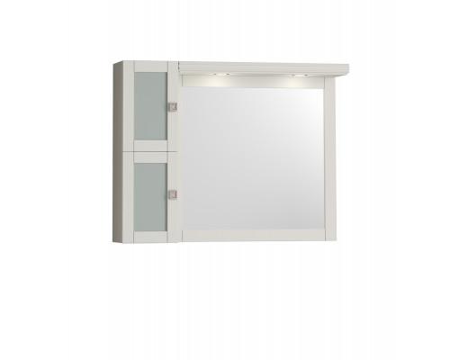 Зеркало Opadiris Мираж 100 с козырьком и шкафчиком цвет слоновая кость