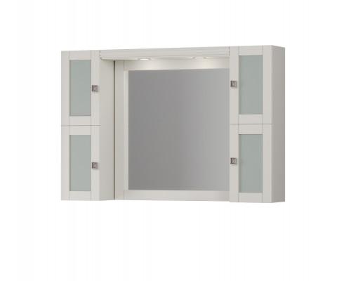 Зеркало Opadiris Мираж 120 с козырьком и шкафчиками цвет слоновая кость