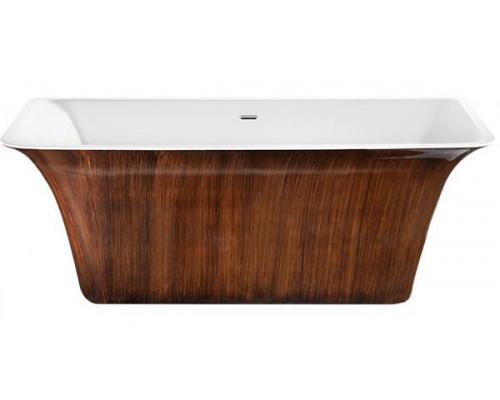 Ванна акриловая LAGARD EVORA Brown Wood 160x77 см
