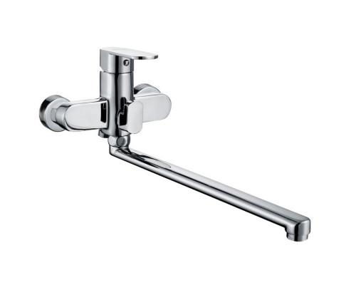 Ganzer Perth Смеситель однорычажный для ванны с длинным изливом, хром