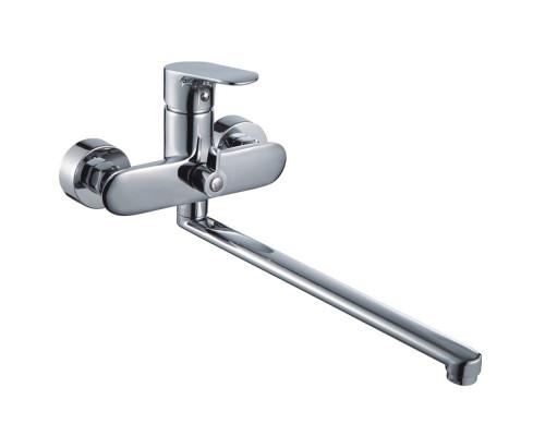 Ganzer Ousha Смеситель однорычажный для ванны с длинным изливом, хром